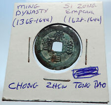1628AD CHINESE Ming Dynasty Genuine Antique SI ZONG Cash Coin of CHINA i71478