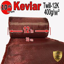 1 Ft x 10 FT - made with KEVLAR-CARBON FIBER ARAMID ~ Fabric - 3K/2K-200g/m2