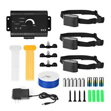 Wireless Waterproof Shock Collar Electric Dog Pet Fence System For 1/2/3 Dogs