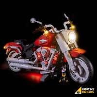LIGHT MY BRICKS - LED Light Kit for LEGO Harley-Davidson Fatboy 10269