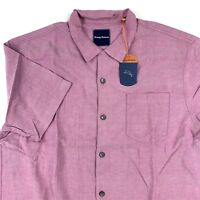 Tommy Bahama Camp Shirt Ocean Oxford Wild Aster 100% Silk T314966 New Large L