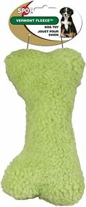 """Spot Ethical Colorful Vermont Fleece Bone Earth tone Green 9"""" Soft with squeaker"""