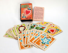 Vintage Miniature Hearts Card Game Slide Box & Rules-1950s