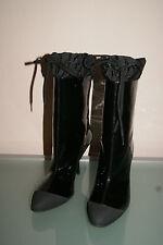 MIU MIU by PRADA Stiefel Gr 40,5 Stiefeletten schwarz Lackleder NEU