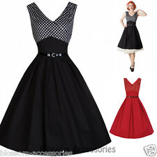 RKB18 Lindy Bop Valerie  Rockabilly Vintage Polka Dots Swing Tea Dress Plus Size