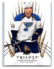 (HCW) 2014-15 Upper Deck Trilogy #43 David Backes Blues NHL Mint