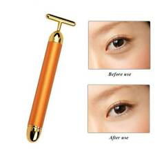 Beauty Bar 24K Gold Facial Massager Pulse Roller Face Eye Skin Care Anti-aging