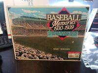 Baseball Memories 1930-1939 by Marc Okkonen