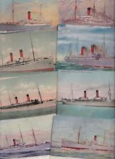 SIPPING - Artist Drawn - Union Castle Line - 26 Old Postcards - sold singly