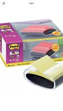 Post it Z-Note Dispenser With 16 Packs Post it Z-Notes 76mm x 76mm Canary yellow