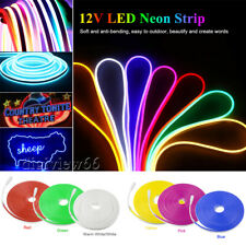1-3M LED Strip Neon Flex Rope Light Waterproof 12V Flexible Outdoor Lighting UK