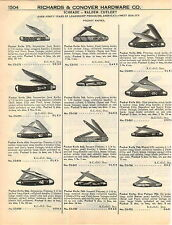 1951 ADVERT Schrade Walden Push Button Pocket Knife Knives Ulster Rich Con