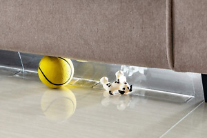 BOWERBIRD Clear Toy Blockers for Furniture - Stop Things from Going Under Couch
