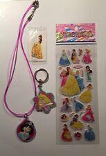 Disney Princess Birthday PartyBag Filler Bundle-necklace,tattoo,keyring,stickers