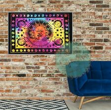 Tie-dye Sun Moon Stars Tapestry Wall Hanging  Poster Flag Cotton Textile 40*30