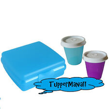 TUPPERWARE Box Sandwich Brotbox blau mit 2 Wichteln blau+lila