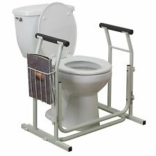 Stand Alone Toilet Safety Rail/For Medical Disability Issues w/ Magazine/Safety