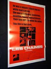 BROTHERS les chaines Arthur Barron  affiche cinema 1977 blaxploitation u.s
