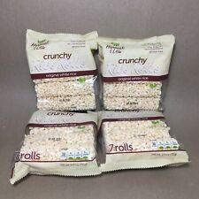 Crunchy White Rice Rolls Lightly Sweetened Snack Vegan Gluten Free • 4 PACKS