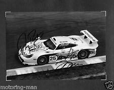 PORSCHE 911GT1 911 GT1 BOUTSEN BOB WOLLEK WERKFOTO SIGNED AUTOGRAPHED PHOTOGRAPH