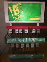 Vintage B KOOL Cigarette Metal Lighted Counter Display Advertising Store Sign