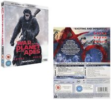WAR FOR THE PLANET OF THE APES (2017) - Action, Adventure - NEW 4K UHD + BLU-RAY