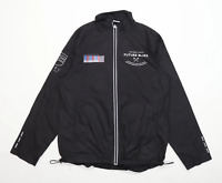 All we do is Mens Size M Graphic Black Future Blues Windcheater