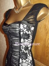 Jane Norman ❤️ Sexy Black Lace corset bodycon Wiggle Mini dress size 8