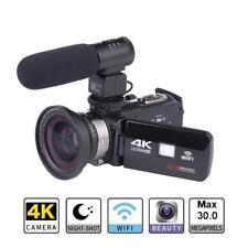 WiFi 4K ULTRA HD 30MP Digital Video Camera Camcorder Recorder DV Mic Lens