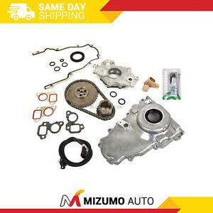 Timing Chain Kit Cover Gasket Sensor Oil Pump Fit 97-04 Chevrolet GM 4.8 5.3 6.0