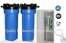 Outdoor Camping Caravan WholeHouse Water Filter +Click On Garden Hose Fitting