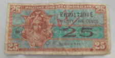 Vintage Military Payment Certificate Twenty-Five Cents Series 521
