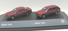 Herpa  BMW 525i Limousine + BMW  535i Touring,  burgunderrot met.
