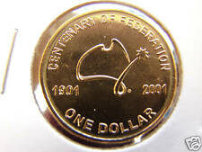 ***2001 Australia Centenary of Federation UNCIRCULATED $1 coin FREE POSTAGE!***