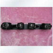 Faux/PU Leather Lined Wrist Ankle Locking Hand Leg Cuffs Binding Tool