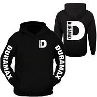 Duramax White Big D Design Color Black Hoodie Hooded Sweatshirt