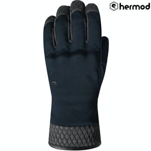 Racer Sara Ladies Primaloft Winter Waterproof Motorcycle Motorbike Gloves - Navy
