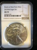 2019-(W) American Sil Eagle Struck at West Point NGC MS70 Brown SKU55812 NO MM