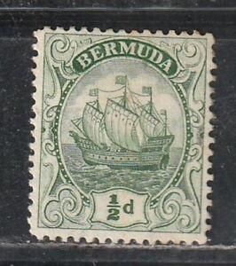1910 British colony Bermuda stamps, 1/2p MH no gum, SC 40a