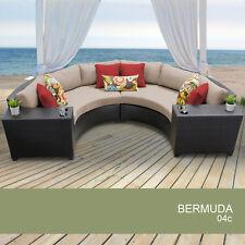 Bermuda 4 Piece Outdoor Wicker Patio Furniture Set 04c