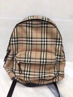 With Receipt Authentic Burberry Bags Classic Check Nylon Backpack