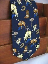 New Frontier Mens Silk Neck Tie Rodeo Clowns Bull Riding Cowboys 107