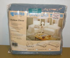 """FURNITURE COVER/THROW by """"UNITED"""" from Value City Blue """"Karen"""" Loveseat Chic MIB"""