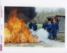 STS-35 / Orig NASA 8x10 Press Photo - Crew During Fire Training