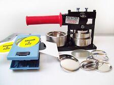 """PHOTO & Paper Button Making Kit 2.25"""" -Tecre Machine,Button Boy Punch+500 Parts"""