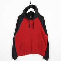 Vintage STARTER Small Pocket Logo Hoodie Sweatshirt Red | Large L