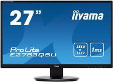 iiyama Prolite E2783QSU-B1 27 inch LED 1ms Monitor - 2560 x 1440, 1ms, Speakers