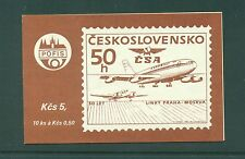 Czechoslovakia 1986 Prague Moscow Air Service  Booklet