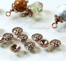 Hammered Bead Caps, TierraCast, 8mm., Antiqued Copper, 10 Pieces, 6218