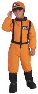 Shuttle Commander Astronaut Space Orange Fancy Dress Up Halloween Child Costume